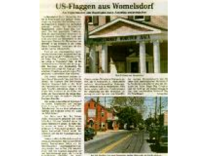 US-Flaggen aus Womelsdorf